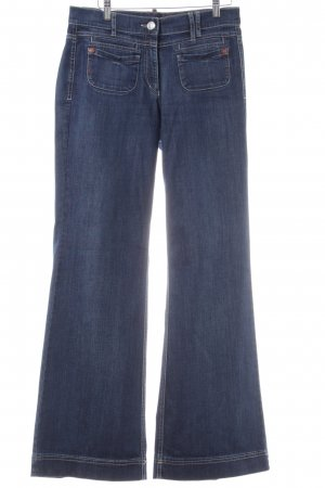 Zerres Jeansschlaghose blau Casual-Look