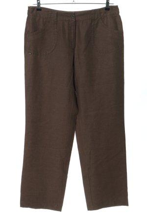 Zerres Pantalon en lin brun style décontracté
