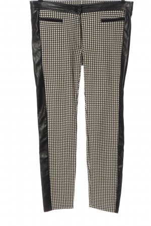 Zerres Drainpipe Trousers black-white allover print casual look