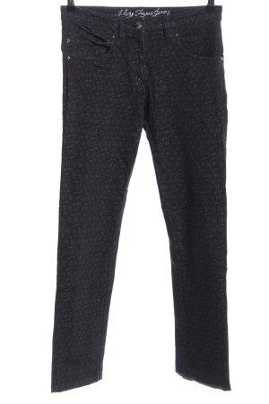 Zerres Skinny Jeans black allover print casual look