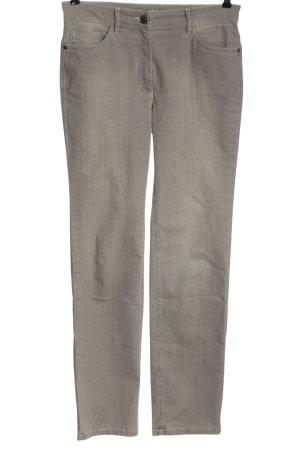 Zerres Straight-Leg Jeans hellgrau meliert Casual-Look