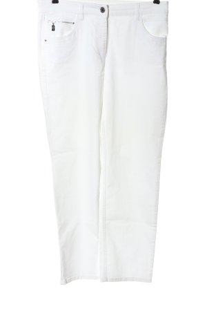 Zerres Jeansy z prostymi nogawkami biały W stylu casual