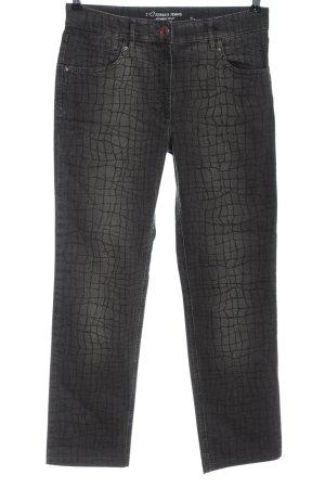 Zerres Jeansy z prostymi nogawkami jasnoszary Na całej powierzchni