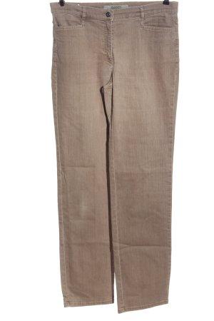Zerres Jeansy z prostymi nogawkami w kolorze białej wełny W stylu casual