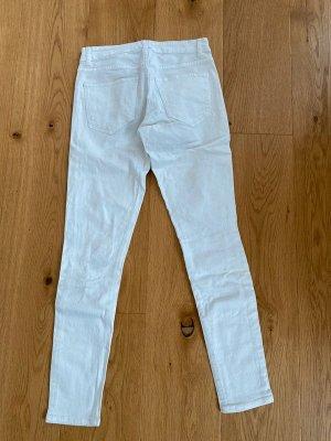 Zerrisse Hose in weiß