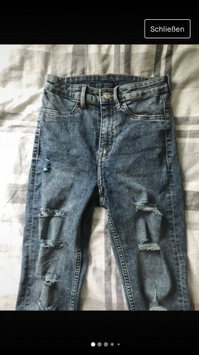 H&M Divided Jeans taille haute multicolore