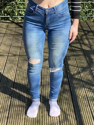 Zerrissene Jeans Pieces high waist