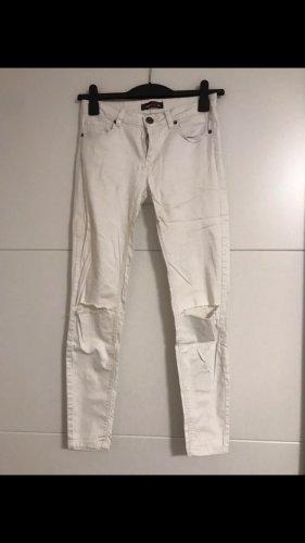 FB Sister Jeans vita bassa bianco