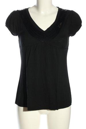 Zeta Moda T-Shirt schwarz Casual-Look