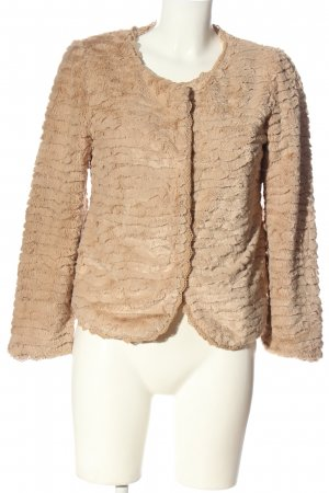 Zeza fashion Veste en fourrure rose motif abstrait élégant