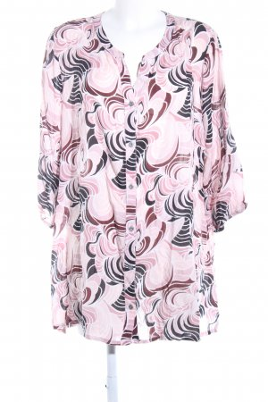 Zhenzi Langarm-Bluse abstraktes Muster Casual-Look