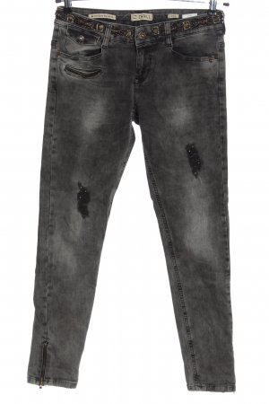 Zhrill High Waist Jeans hellgrau meliert Casual-Look