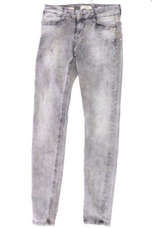 ZHRILL Skinny Jeans Größe W28 mit Nieten grau aus Baumwolle
