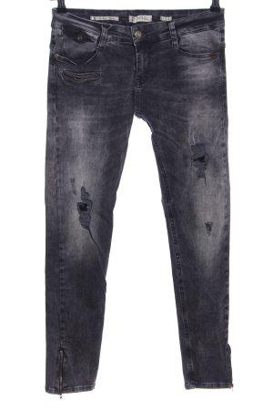Zhrill Stretch Jeans hellgrau Casual-Look
