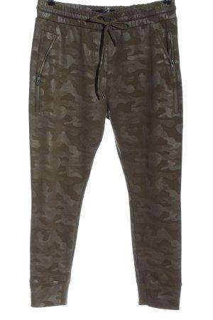 Zhrill Sweat Pants khaki camouflage pattern casual look