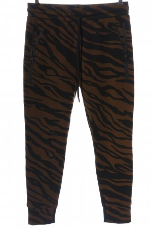 Zhrill Sweat Pants black-brown abstract pattern casual look