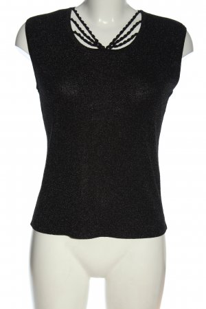 Ziani Couture Knitted Top black casual look