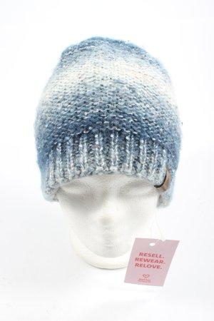 Ziener Bonnet bleu-blanc moucheté style décontracté