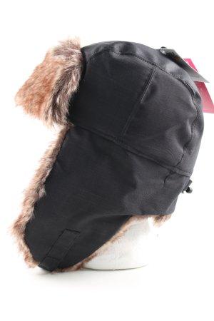 Ziener Cappello da aviatore nero-marrone modello web stile casual