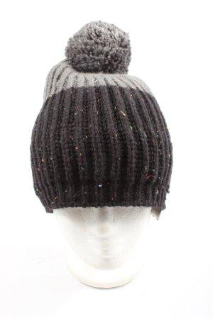 Ziener Bonnet en crochet noir-gris clair style décontracté