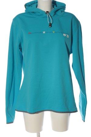 Ziener Bluza z kapturem niebieski W stylu casual