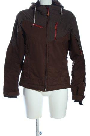 Ziener Krótka kurtka brązowy W stylu casual
