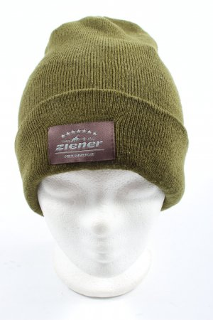 Ziener Knitted Hat khaki cable stitch casual look