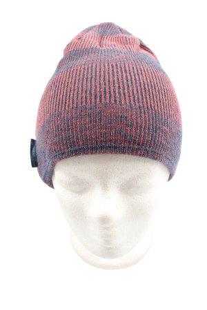 Ziener Chapeau en tricot bleu-rouge gradient de couleur style décontracté