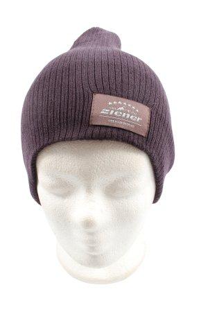 Ziener Chapeau en tricot violet style décontracté