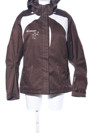Ziener Kurtka zimowa brązowy-w kolorze białej wełny Wydrukowane logo