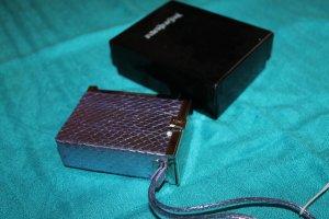 Yves Saint Laurent Custodie portacarte lilla-malva Pelle di rettile