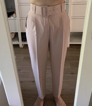 Zara Spodnie z wysokim stanem Wielokolorowy Poliester