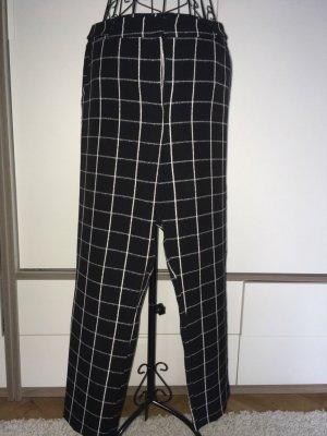 Topshop Pantalón tipo suéter negro-blanco