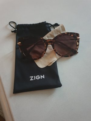 Zign Oval Sunglasses gold-colored-brown