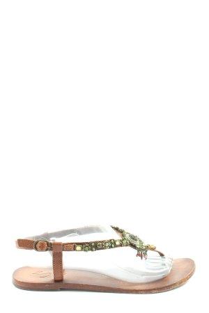 Zign Sandały japonki brązowy W stylu casual