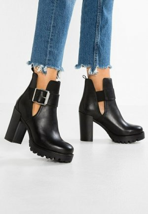 Zign - High Heel Stiefelette aus Echtleder in Schwarz