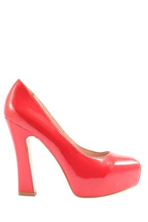 Zign Chaussure à talons carrés rouge style extravagant