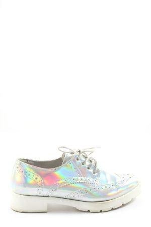 Zign Chaussure Oxford argenté-blanc style décontracté