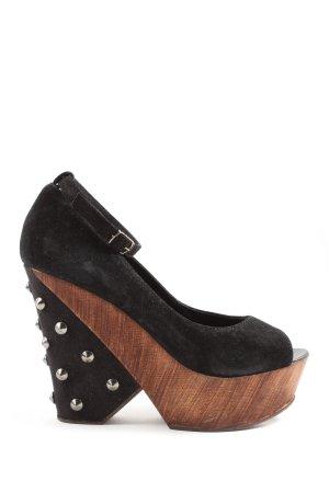 Zign Plateau-Sandalen schwarz extravaganter Stil