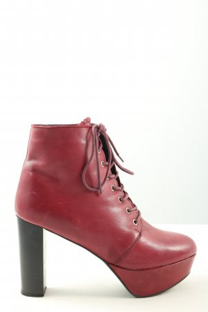 Zign Plateau-Stiefeletten rot Business-Look