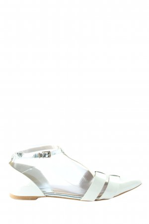 Zign Strappy Ballerinas white casual look