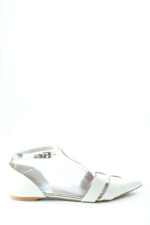 Zign Ballerines à lacets blanc style décontracté