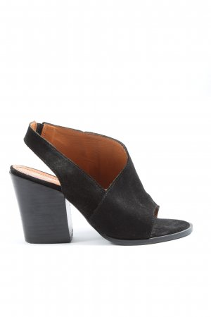 Zign Sandały z rzemykami czarny W stylu casual