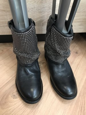 Zign Slouch Booties black-silver-colored