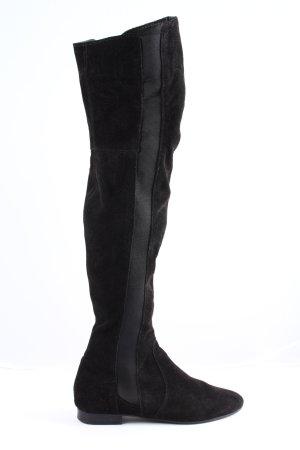 Zign Bottes à tige large noir style décontracté