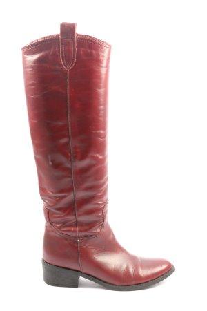 Zign Wide Calf Boots red casual look