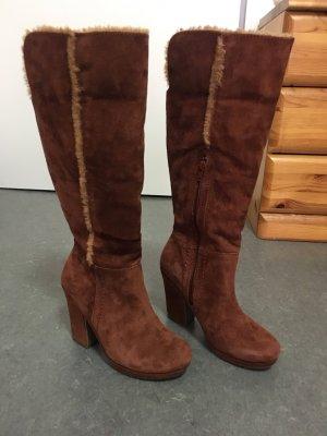Zign Snow Boots cognac-coloured suede