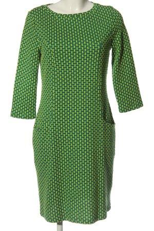 ZILCH Midikleid grün-blassgelb abstraktes Muster Casual-Look