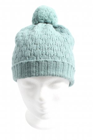 ZILCH Knitted Hat turquoise cable stitch casual look