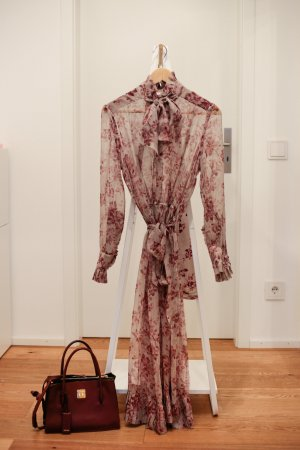 Zimmermann Unbridled Maxi Kleid Floral Seide Rosa xs 34 0 1 s